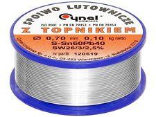 Soldering tin 1.00 mm Sn60/Pb40 Flux HS 10 2.5 % roll of 500 g